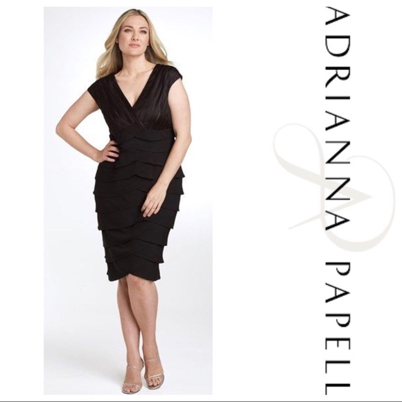 3e475d35ec4 Adrianna Papell Dresses   Skirts - Adrianna Papell Tiered Plus Size  Cocktail Dress